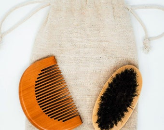 Beard Brush & Comb Set