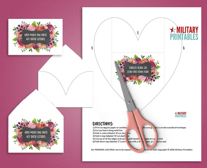 Open When Envelopes, Open When Letters, Printable Envelope Template, Long  Distance Relationship Card