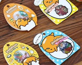 Diary lazy egg yolk transparent PVC flat sticker package diary sticker 60 sheets in - SM90610