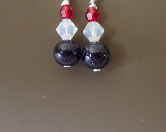 Red White Blue Earrings