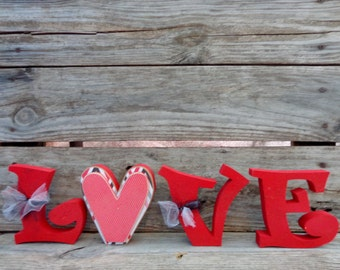 Valentines Decor - Love Decor- Valentines Day- Valentines Decorations- Love Letter Set
