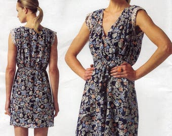FREE US SHIP Vogue 1344 Rebecca Taylor Cap Sleeve Dress Sewing Pattern Size 6/14 14/22 14 16 18 20 22 Bust 30 32 34 36 38 40 42 44 Plus New