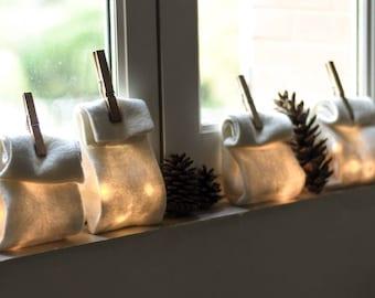 Lighting Bag White night lamp Christmas gift decorations LED