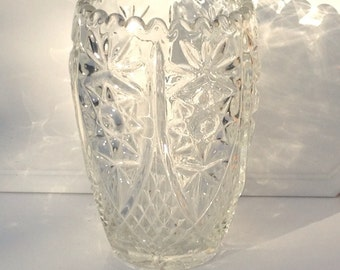 Beautiful Vintage Bohemian Cut Crystal Vase