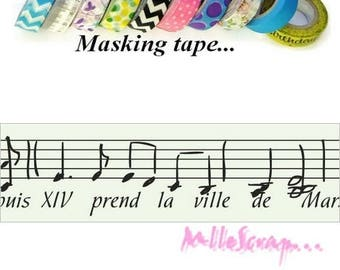 "Masking tape music ""Versailles"" scotch decorative scrapbooking decoration *."