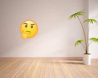 Thinking Emoji Vinyl Wall Decal