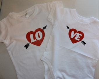 Sibling LOVE Valentine's Shirts - Couples LOVE Valentine's Shirts- Custom T-shirt - Heat Transfer Vinyl