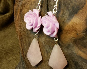 Sale #EarthDay ~ Lilac and Rose Albanian Blossoms Earrings