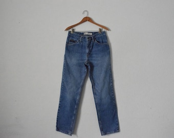 FREE usa SHIPPING vintage Lee denim jeans/ retro/ groovy/ hipster/ mid rise/ cotton jeans/ regular fit/ size 30x30