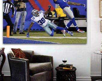 "OBJ Odell Beckham Catch Canvas Print 36""x24"" NY Giants Odell Beckham Poster"