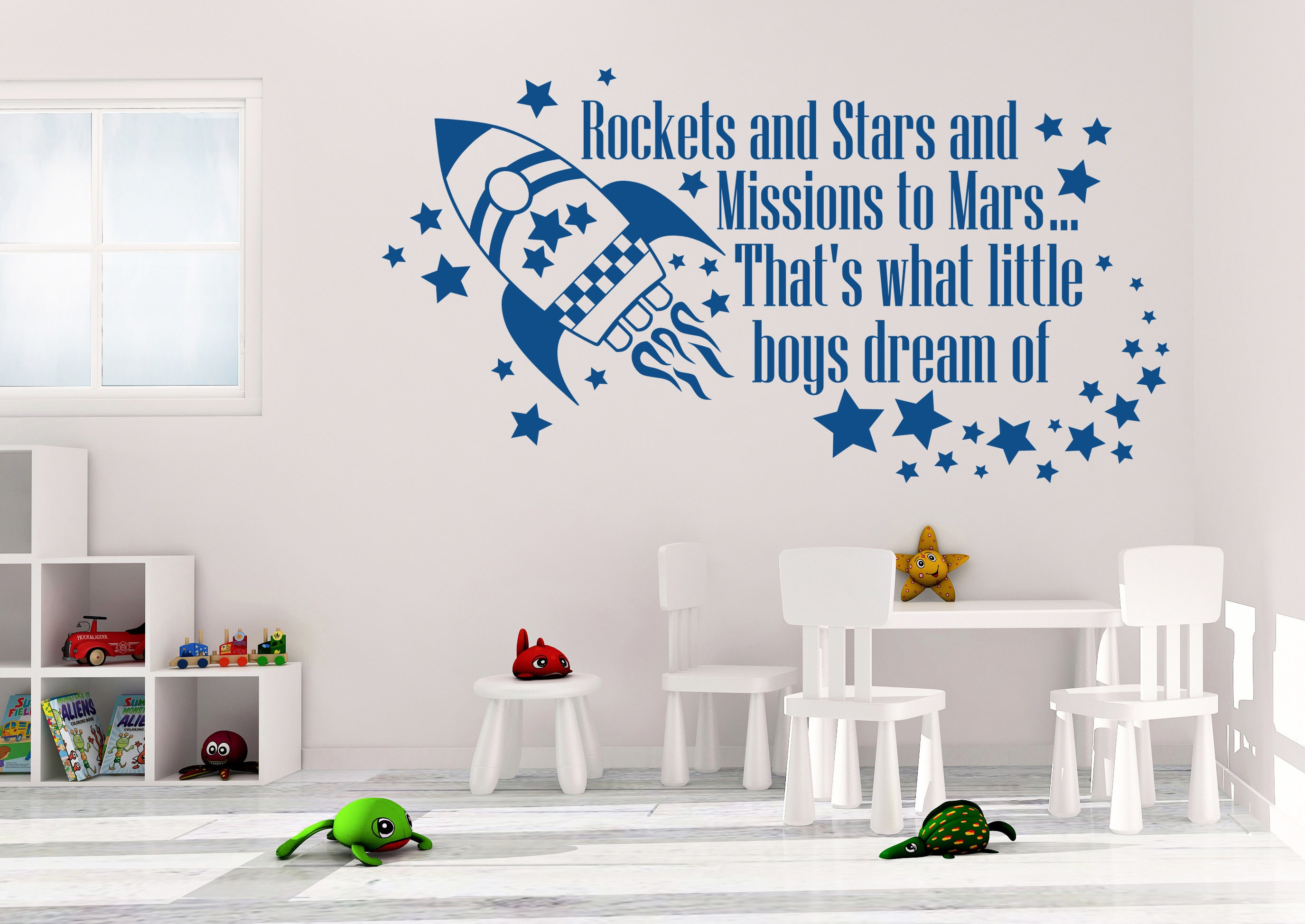 Rockets and Stars Wall Decal - Rocket Wall Decal - Stars Wall Decal - What Little Boys Dream Of - Rocket Wall Decor - Boys Room Decor  sc 1 th 189 & Rockets and Stars Wall Decal - Rocket Wall Decal - Stars Wall Decal ...