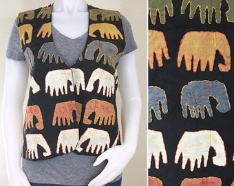 30% Off Sale 90s Soho Campagnie Elephant Hippie Vest, NWT, Large to XL