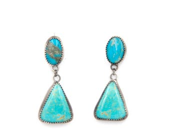 American Turquoise Post Earrings