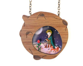 The prince and his world. Necklace with tiny scenes inside. LaliBlue