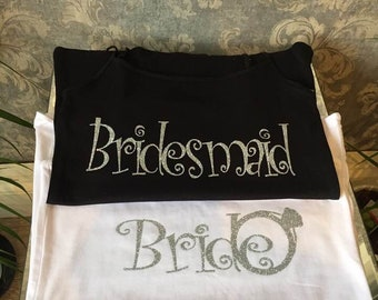 Personalized Hen Do Bride and Bridesmaids Tops