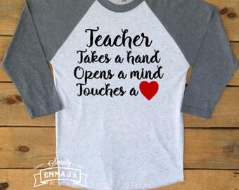 Teacher shirt, teacher, teacher gift, gift ideas, teach, baseball shirt, school shirt, team shirt