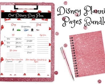 Disney Planning Pages Bundle +Bonus Resort Decision Guide! Digital Download Printables