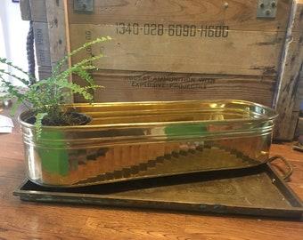 Brass long large planter