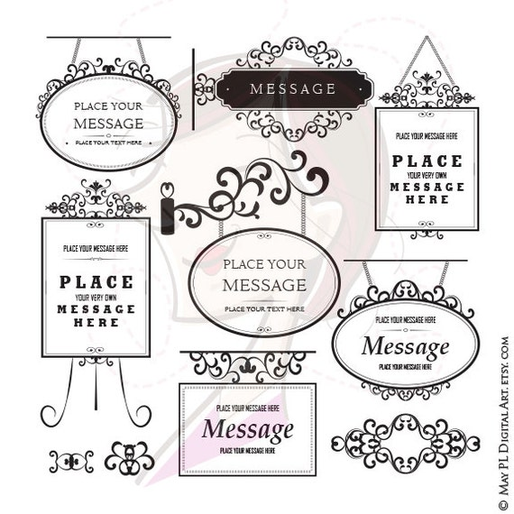 Business sign clipart frame flourish vector graphics curling stopboris Image collections