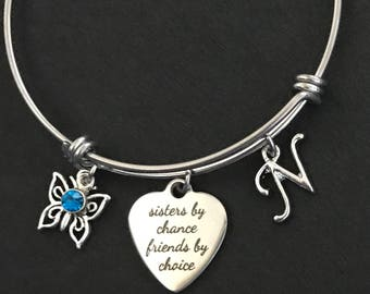 Personalized Sister Bangle Personalized Sister Bracelet