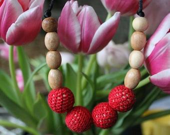 crocheted necklace, nursing necklace, boho necklace, crochet, crochet necklace, teething necklace, boho, boho mama, teething necklace