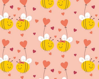 Made to Order Bees Pink Hearts or Yellow Unisex Adult Flannel Pajama Pants