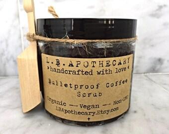 Organic Fair-trade Coffee Sugar Scrub /Vegan Sugar Scrub / Coffee Scrub / Espresso Scrub / Coffee Lover Gift /  Body Polish Birthday Gift