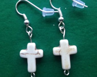 Prettty Cross Earrings, Religious Earrings, Hand Made Earrings, Hand Made Jewelry, Religious Jewelry