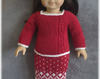 American Girl - Holiday Top and Skirt (knitting pattern)