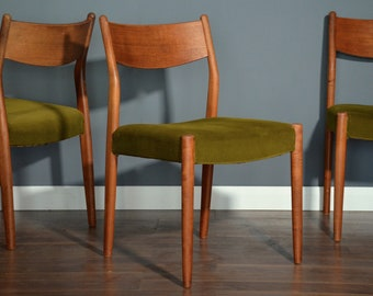 Stunning Set of 6 Vintage Midcentury Danish teak chairs. Delivery. Modern / Retro.