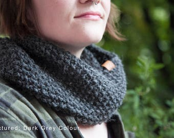 Knitted Scarf or Snood - Multiple Colours available