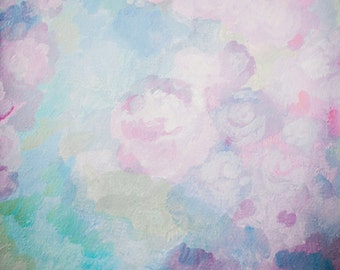 Newborns Photography Backdrop, Watercolor painted floral photo background, Children shabby chic watercolor rose photodrops XT-4750