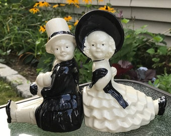 Vintage Bookends Southern Belle and Gentleman Vintage Southern Couple Bookends