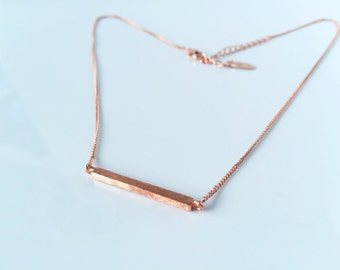 rose gold Horizontal bar necklace, matte crossbar,high-quality,gift for you or friends,Wedding gifts, bridesmaid necklaces