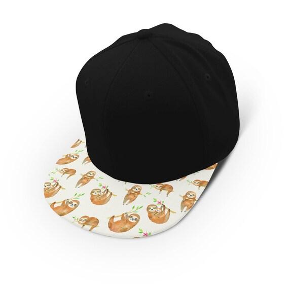 Watercolor sloths everywhere snapback cap - hat - baseball cap 5P003