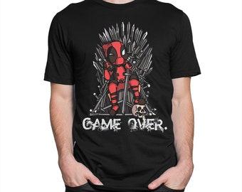 Deadpool Game Over Art T-shirt, All Sizes