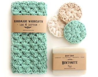 Birthday Gifts Women Gift Set for Her Teacher Gift Sister Mom Birthday Gift Mothers Gift Soap Washcloth Face Scrubby