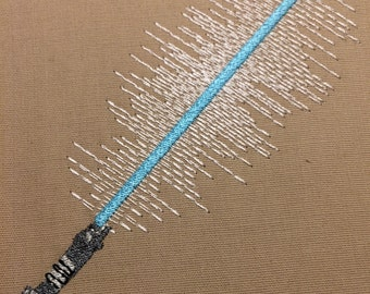 Light Saber Machine Embroidery Design 4x4
