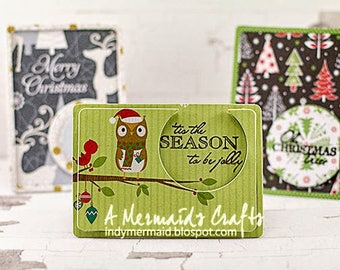 Set of Three Small Christmas Gift Cards