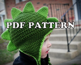 PDF PATTERN - Dapper Dino Crochet Hat