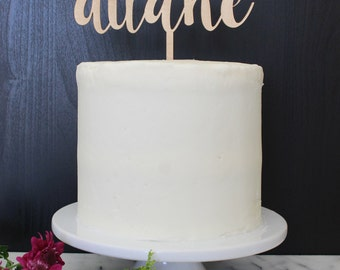 Personalized Mr & Mrs Wedding Cake Topper | Custom Name