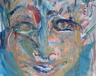 Blue Looking Through, Abstract Expressionism