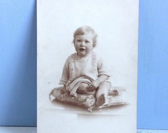 Vintage Postcard Baby Real Photo Postcard Card Unposted
