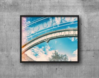 Lincoln Square, Chicago Sign - Lincoln Square Arch - Art Photography Print - sign photo