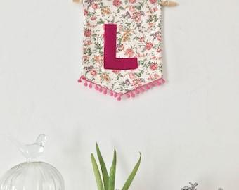 """Handmade Mini Banner - Letter """"L"""""""