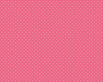 Swiss Dot Fabric - Dark Pink Polka Dot Fabric - Riley Blake Designs - Polka Dot Fabric - Pink Fabric - Quilt Fabric