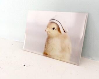 Chicks in Hats Chicken Wearing A Nurse's Nursing Cap Baby Bird Magnet