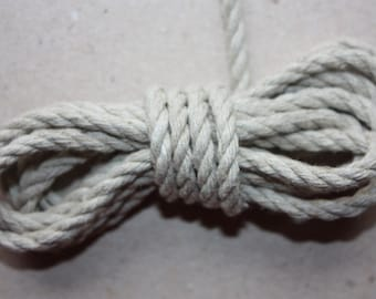 5 mm Linen Rope - 1 Spool - 22 yards Yards Natural Linen Cord - Natural Color - Organic Natural Fiber Cord - Decorative Rope