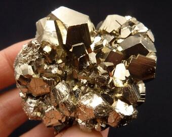 Pyrite | Pyrite Cluster | Pyrite Crystal | Fool's Gold | Fool's Gold Crystal | Dodecahedral Pyrite Crystal | Peru | 235 grams