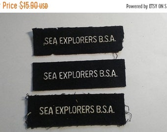Spring Sale Vintage 1950s BSA Boy Scouts of America Sea Scouts Patches